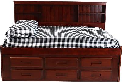 Amazon.com: individual sofá cama Estantería con 3 cajones y ...