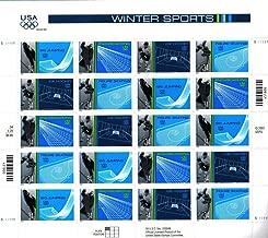 2002 OLYMPIC WINTER SPORTS ~ SALT LAKE CITY UTAH~ SKI JUMPING ~ SNOWBOARDING ~ ICE HOCKEY ~ FIGURE SKATING #3555a Pane of 20 x 34¢ US Postage Stamps