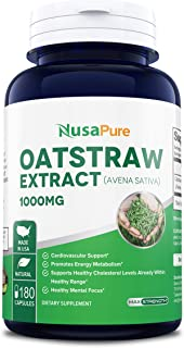 Oatstraw Extract - Avena Sativa 1000mg 180caps (Non-GMO & Gluten Free) Nervous System Health Support Herbal