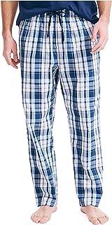 Nautica Men's Soft Woven 100% Cotton Elastic Waistband Sleep Pajama Pant, Light Haze, Large