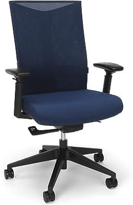 HON BASYX Movement Mesh Back Task Chair with Adjustable Lumbar, Navy