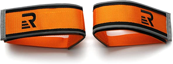Retrospec Bicycles Fixed-Gear Track BMX-Style Foot Retention FGFS Velcro Straps with Reflective Fabric
