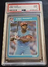 1985 KIRBY PUCKETT FLEER #286 MINNESOTA TWINS HOF ROOKIE PSA 9 CENTERED (869)