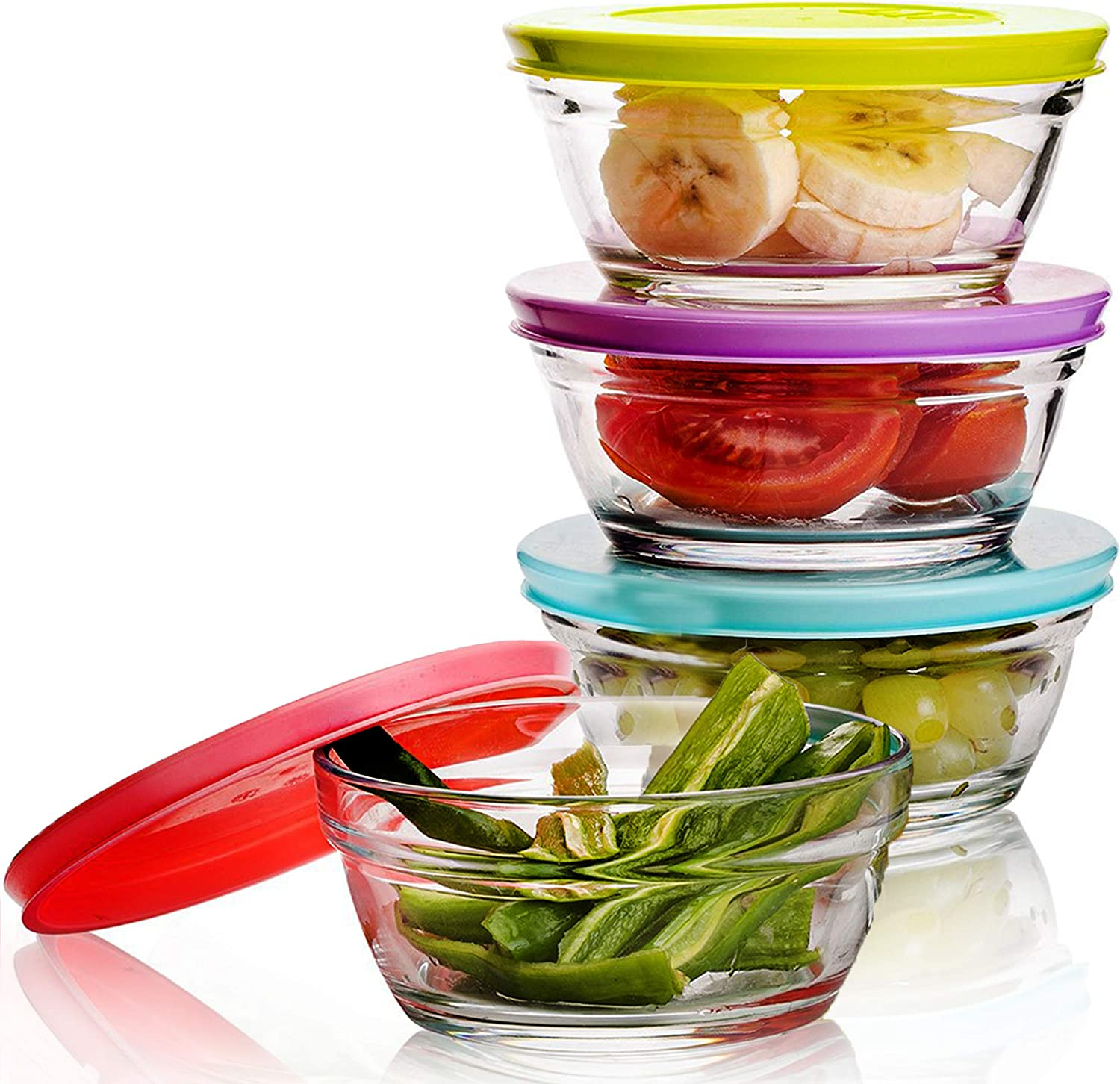 Small Glass Storage Indefinitely Containers with o Stackable Set Bowls Lids Weekly update