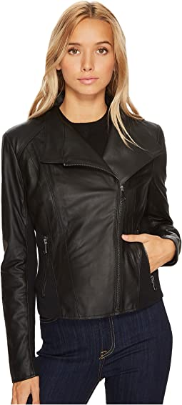 "Felix 19"" Feather Leather Jacket"