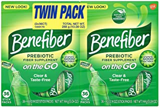 Benefiber On The Go Fiber Supplement Stick Twin Pack (72 ct.)