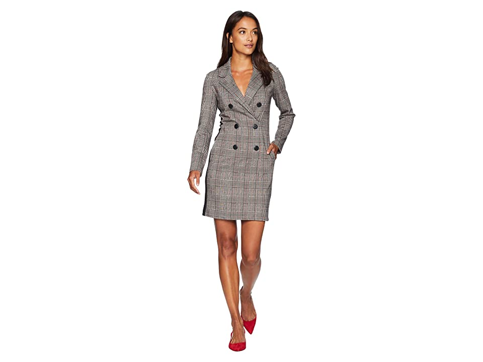 Donna Morgan Double Breasted Coat Dress (Red/Black) Women
