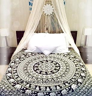 RawyalCrafts-Indian Hippie Tapestry Wall Hanging,Bohemian Wall Hanging,New Age Tapestry,Elephant Mandala Typestry,Gypsy Ta...