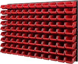 Wandplank stapelboxen - gatenwand 1152 x 780 mm - 99 stuks. Bokken opslagsysteem gereedschapswand Schuderek (rood)
