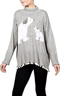 Women's Christmas Sweater | Polar Snowfall | Long Sleeve Crewneck Tunic