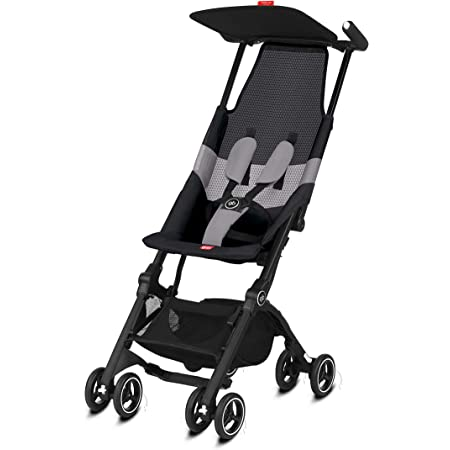 gb Pockit Air All Terrain Ultra Compact Lightweight Travel Stroller with Breathable Fabric in Velvet Black