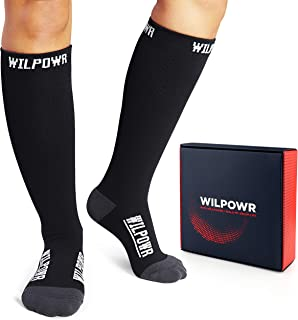 WILPOWR -Compression Socks 15-20 mmHg, FDA Registered,...