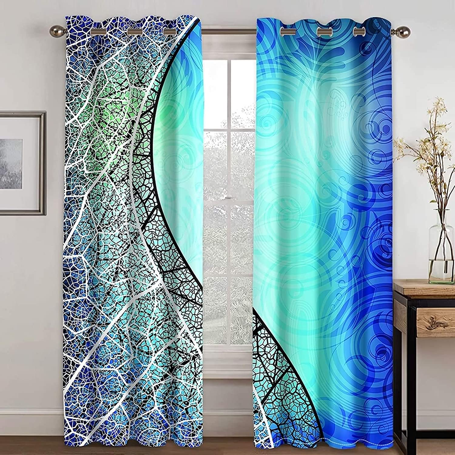 KnBoB Long Curtains for Living Room Zero L Cheap sale Sun Inventory cleanup selling sale Blackout