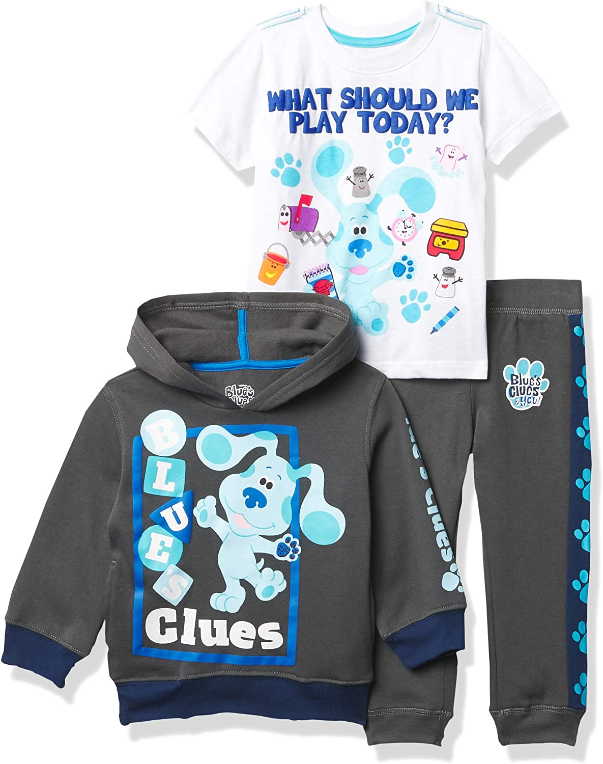 Nickelodeon Blue's Clues & You Hoodie, T-Shirt, & Jogger Sweatpant,...