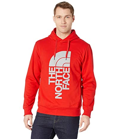 The North Face Trivert Pullover Hoodie (Fiery Red/High-Rise Grey/Campfire Print) Men