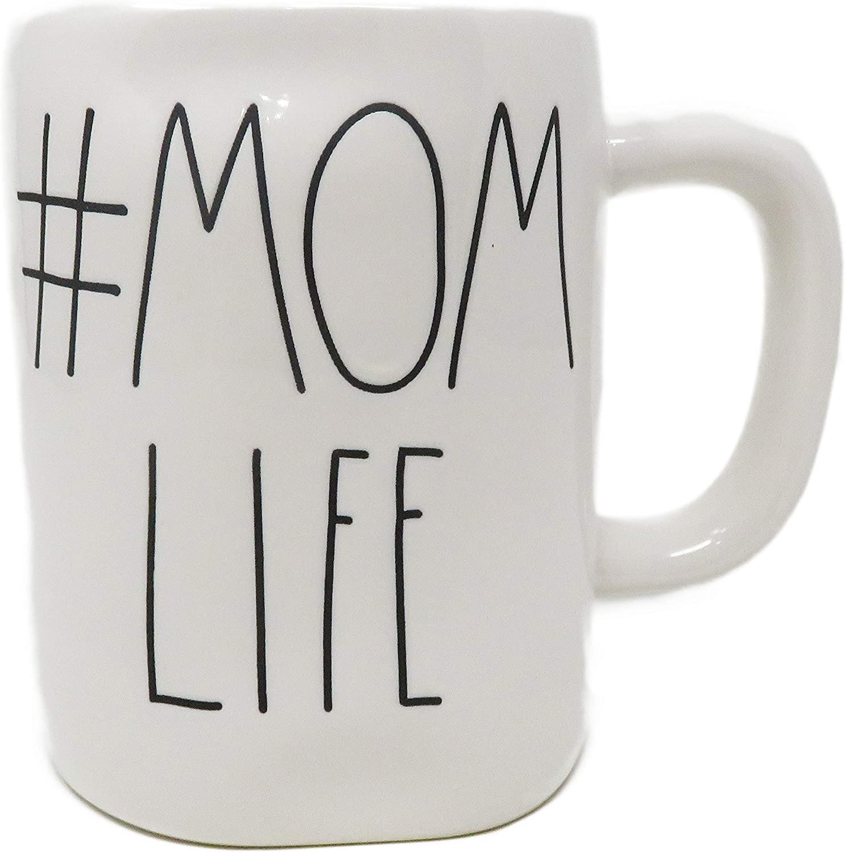 Rae Dunn Rare By Denver Mall Magenta #MOMLIFE Coffee Ceramic Mug Tea LL