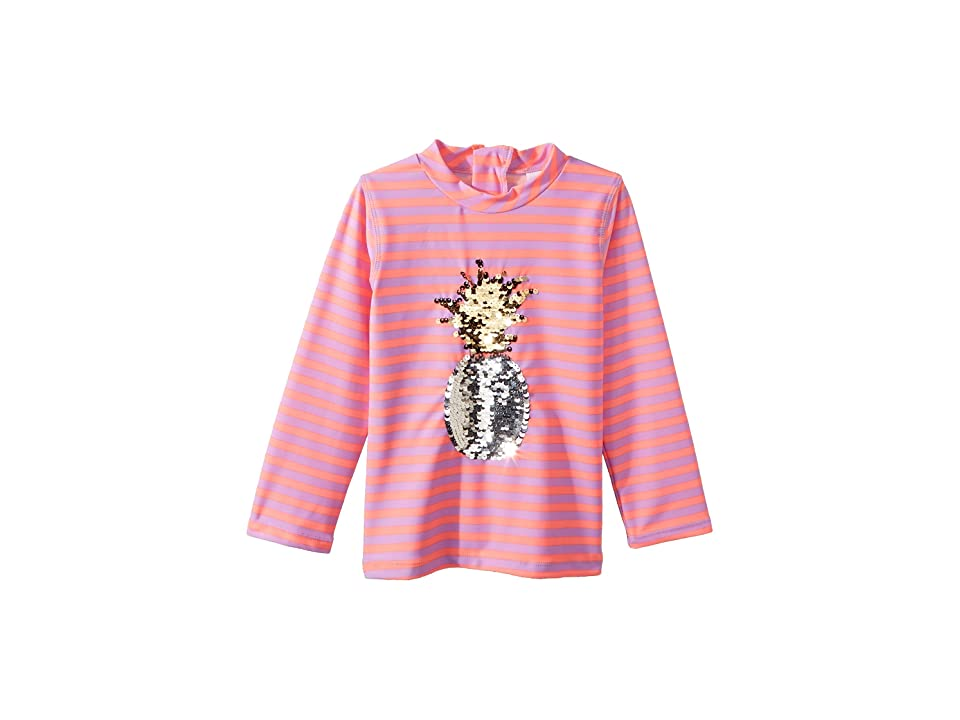 shade critters Pineapple Long Sleeve Rashguard (Toddler) (Pink) Girl