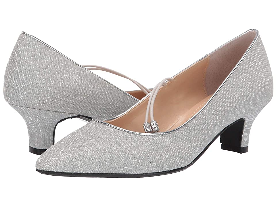 J. Renee Idenah (Silver Glitter Fabric) Women's 1-2 inch heel Shoes