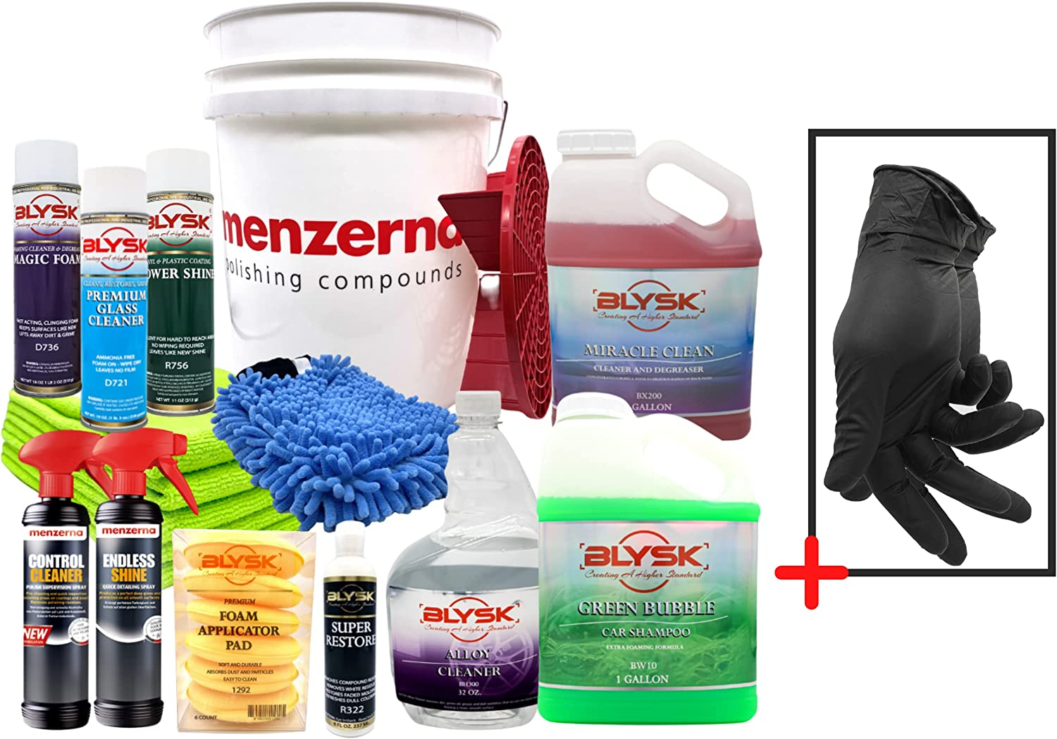 Blysk Menzerna The Ultimate Car wash Cleaning Di Bucket with kit Superlatite Ranking TOP4