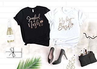 Nashville Bachelorette Shirts, Country Bachelorette Party Shirts for Bride and Bridesmaids, Soft Crew Neck and V-Neck T-Shirts with Rose Gold Graphic