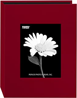Pioneer 24 Pocket Fabric Frame Cover Photo Album, Apple Red