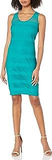 A|X Armani Exchange Women's Sheer Detail Sleeveless Dress
