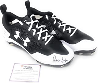 476e40c39b532e Aaron Judge New York Yankees Signed Autograph Under Armour Cleats MLB    Fanatics Authentic Certified