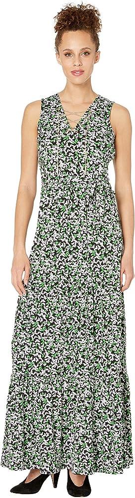 126c5f95bf60 Vince Camuto. Sleeveless Floral Getaway Halter Maxi Dress. $119.00. Multi  Flutter Chain Maxi Dress