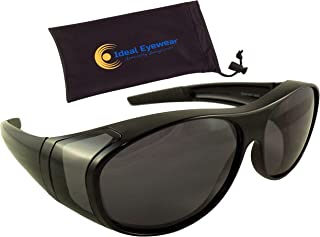 Fit Over Sunglasses with Polarized Lenses - Wear Over Prescription Glasses - Great for Fishing, Boating, Golf, Driving