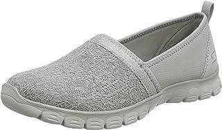 : Gris Mocassins Chaussures femme : Chaussures
