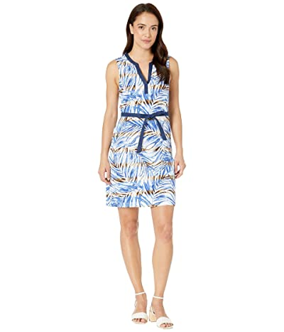 Tommy Bahama Mai Le Lei Belted Sundress (Monaco Blue) Women