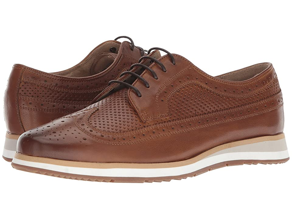 Florsheim Flux Wingtip Oxford (Saddle Tan Perf) Men