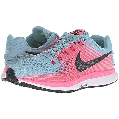 Nike Air Zoom Pegasus 34 FlyEase (Mica Blue/Black/Racer Pink/Sport Fuchsia) Women