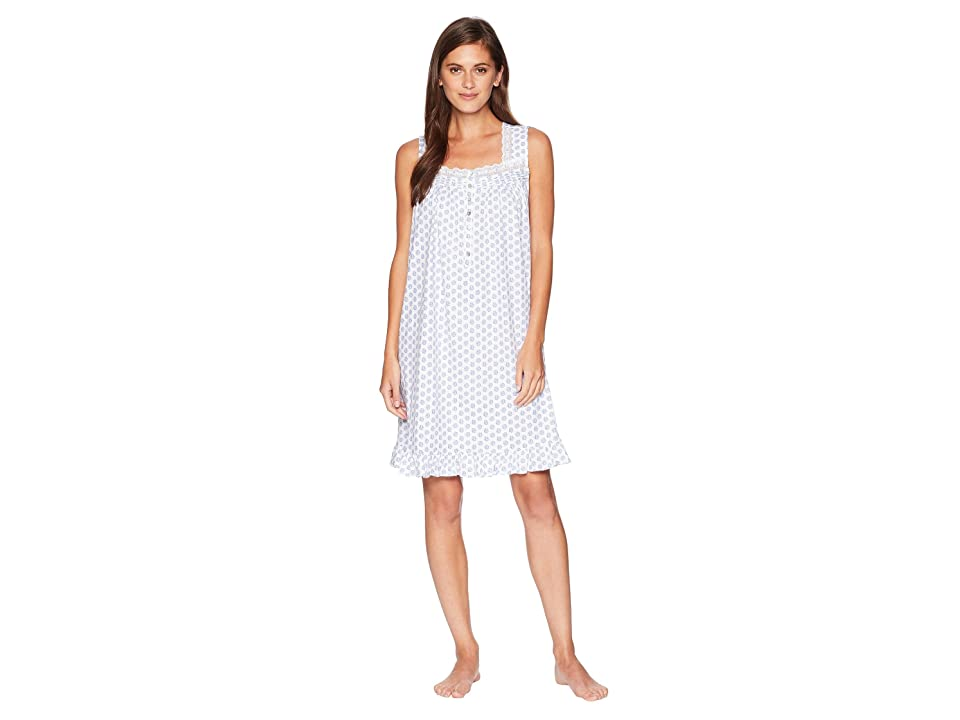 Eileen West Sleeveless Short Nightgown (Blue Geo) Women