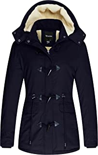 Women's Winter Thicken Jacket Cotton Coat with Removable Hood