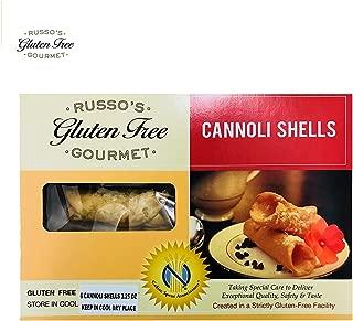 Russo's Gluten Free Cannoli shells - 3.5 Oz (6 Canoli shells) - 100% Gluten Free, Made in a strictly Glutenfree Facility
