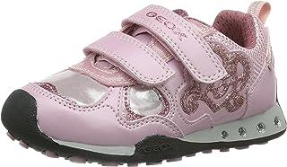 حذاء رياضي أنيق مضاء للفتيات من Geox JR (رضيع/طفل صغير/طفل كبير), (زهري), 33 EU (2 M US Little Kid)
