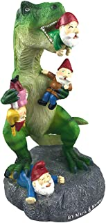 Best By Mark & Margot - Outdoor Garden Gnomes Picnic Sleeping Cat Statue - Beautiful Funny Novelty Gift (One Size, Dinosour Gnomes) Review