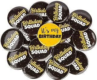 CORRURE 18pcs Birthday Button Pins 2.35