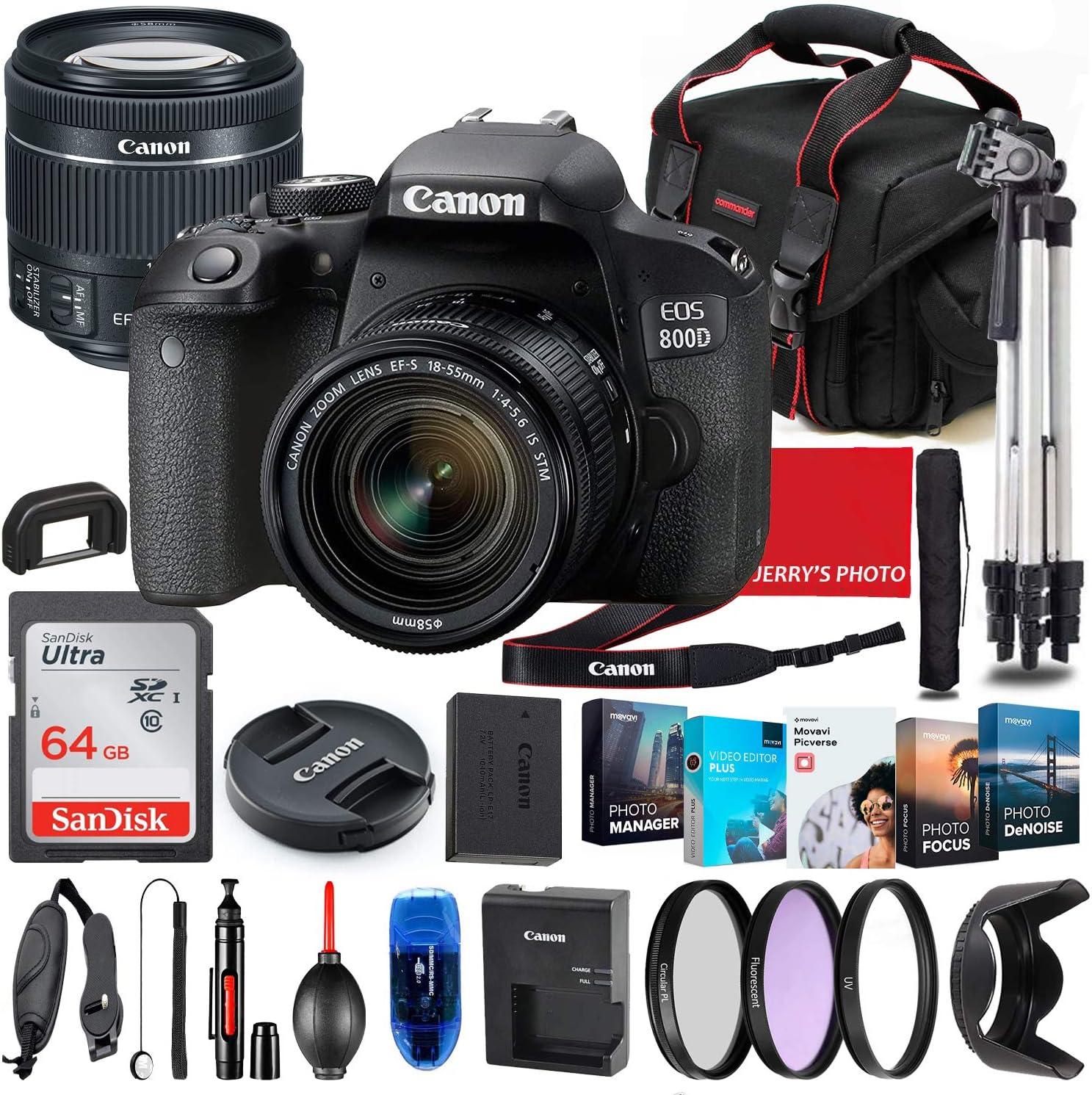 Canon EOS Ranking Super-cheap TOP8 800D Rebel T7i DSLR with Camera STM Bun Lens 18-55mm