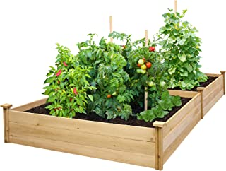 Greenes Fence RCEC6T21B Best Value Cedar Raised Garden Bed Planter, 48