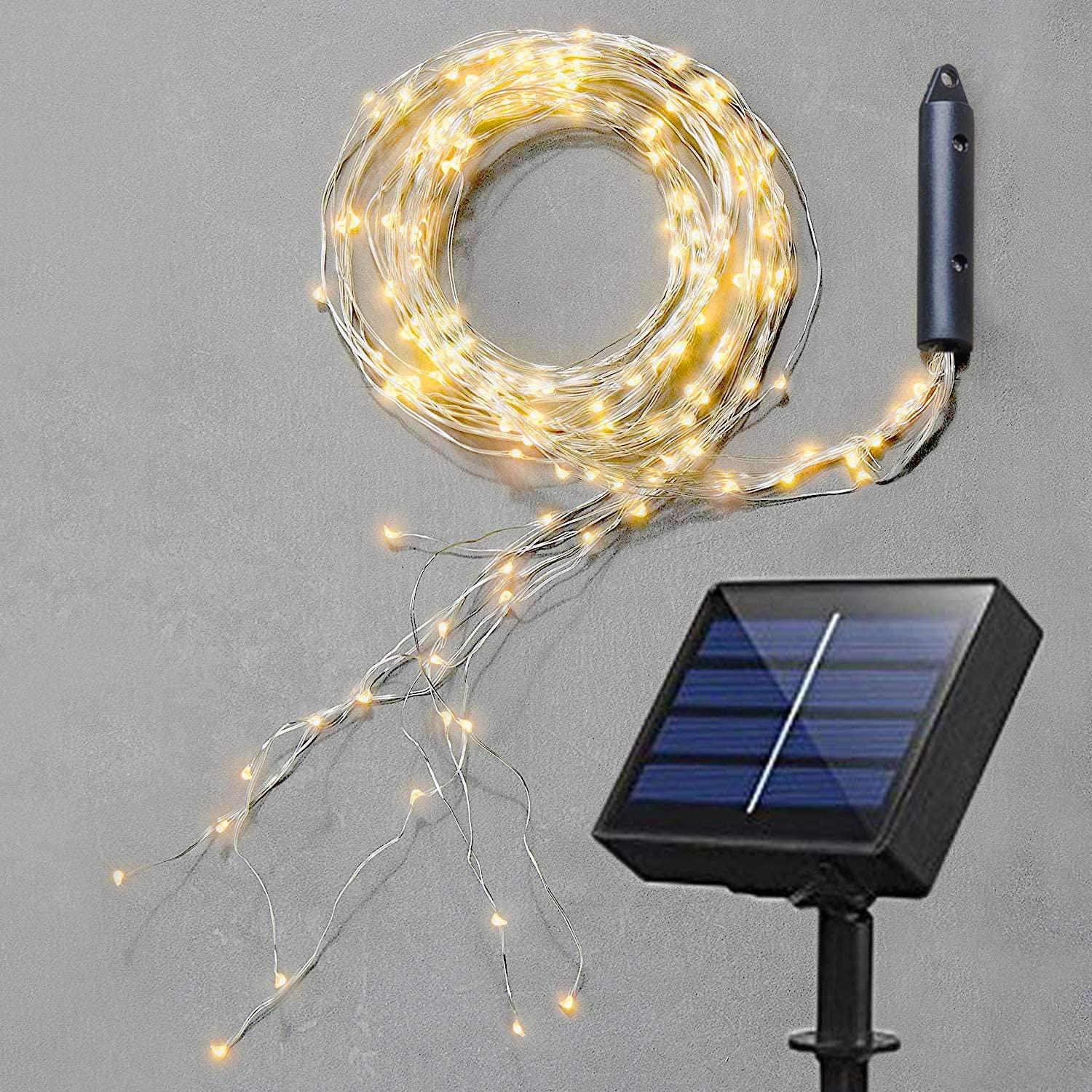 Soltuus Solar Fairy String Lights Outdoor, Multi Strand 20 LEDs Watering  Can Light, Waterproof Solar Powered Waterfall Lights, Warm White Firefly ...