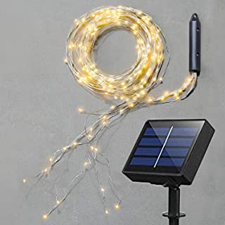 Soltuus Solar Fairy String Lights, Multi Strand Watering Can Light 180 LEDs Outdoor, Waterproof Solar Powered Waterfall Fa...