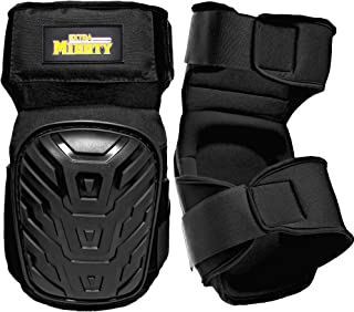 ExtraMighty Professional Knee Pads - Heavy Duty Foam Padding and Comfortable Gel Cushion - Non Slip Adjustable Double Straps Without Clips That Snap Off