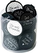 Inspirational Bulk Bookmarks for All Ages! (Set of 75) The Lord is Your Strength, HE Will Provide, Black & White Assortment Church Giveaways, VBS Rewards and Sunday School Gifts!