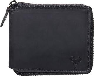 Genuine Leather Bifold Wallet with Zip Coin Pocket for Men, Men's Wallet RFID Blocking, Bifold Men's Wallet, Leather Vinta...