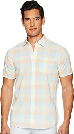 Short Sleeve Stretch P55 Medium Plaid