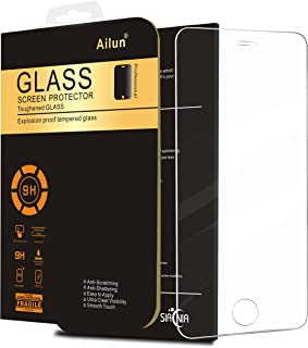 Ailun Screen Protector Compatible with iPhone 5S Compatible with iPhone Se 5 5c 5S Tempered Glass 9H Hardness 2.5D Edge Anti Scratch Case Friendly Siania Retail Package