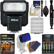 Nikon SB-300 AF Speedlight Flash with Color Gels + Batteries & Charger + Lighting DVD + Kit