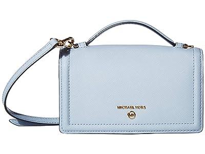 MICHAEL Michael Kors Jet Set Charm Small Top-Handle Phone Crossbody (Pale Blue) Handbags